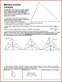 Medians and the Centroid with Answer Key (Editable)