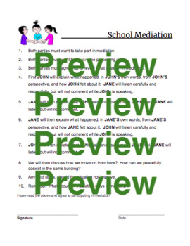 Mediation 101 for School Counsellors: Easy-to-Follow Instructions & Handouts
