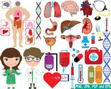 Medic Doctor Nurse biology Clipart tools medicine science cross brain career 166