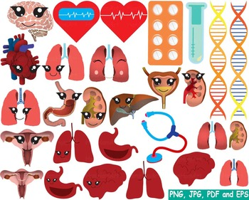 Medic Doctor Nurse biology Clipart tools medicine science cross brain career 166