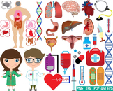 Medic Doctor Nurse biology Clipart tools medicine science