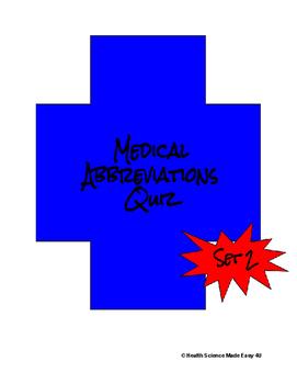Medical Abbreviations Quiz (Set 2)