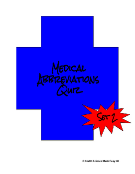 Medical Abbreviations Quiz (Set 2)