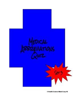 Medical Abbreviations Quiz (Set 3)