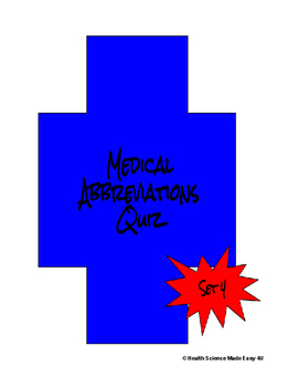 Medical Abbreviations Set 4