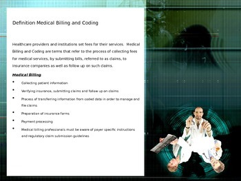 Medical Billing and Coding:  An Introduction