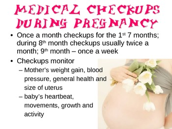 Medical Care During Pregnancy Powerpoint for FCS Child Development