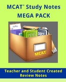 Medical College Admissions Test (MCAT) Study Review Notes - MEGA PACK