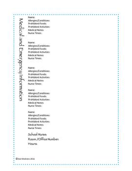 Medical & Emergency Info