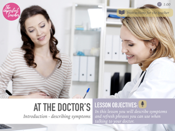 Medical English for Patients ESL Course - Lesson 1 - At the Doctor's