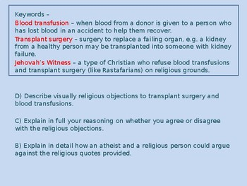 Medical Ethics: Transplants and Transfusions