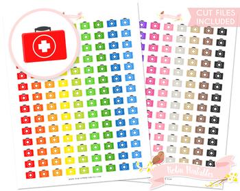 Medical Kit Printable Planner Stickers