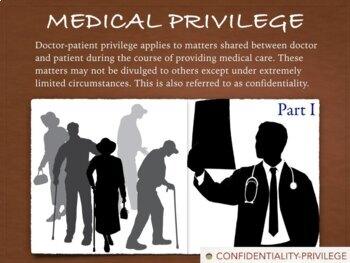 Medical Law - Privilege - Malpractice - Ethics - Informed Consent - 81 Slides
