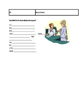 Medical Sciences Webquest