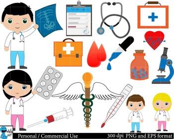 Medical Set Clipart Digital Clip Art Graphics 40 images cod1