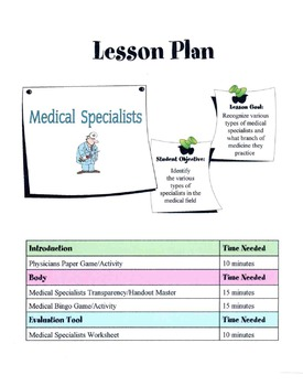 Medical Specialist Lesson
