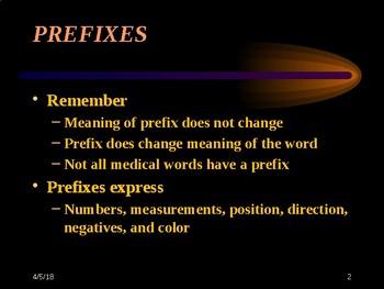 Medical Terminology: Prefixes