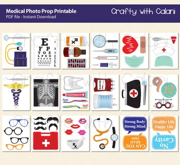 Medical Themed Photo Booth Prop, Medical Practitioner Photo Booth Prop
