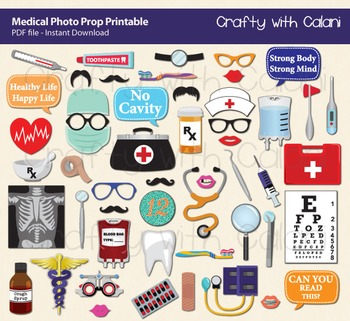 Medical Themed Photo Booth Prop, Medical Practitioner Phot