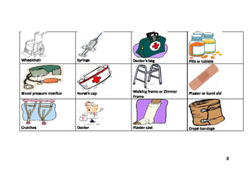 Medical equipment memory Game