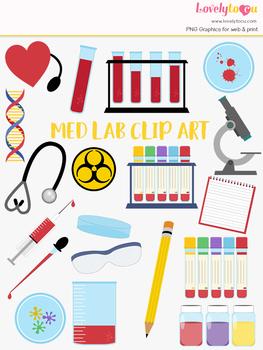 Medical lab clipart, doctor nurse laboratory clip art (LC39)