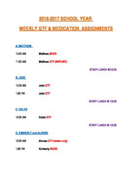 Medication Assignments for Paraeducators