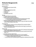 Medication Management Kit