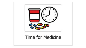 Medication Social Story w/ Step by Step Chart for Children with Autism