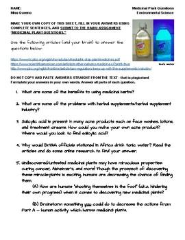 Medicinal Plant Articles and Questions