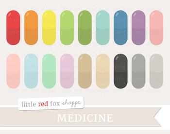 Medicine Capsule Clipart; Medical, Pill, Doctor, Nurse