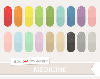Medicine Capsule Clipart; Medical, Pill, Doctor, Nurse