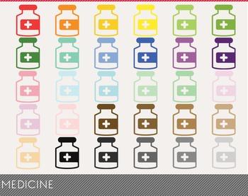 Medicine Digital Clipart, Medicine Graphics, Medicine PNG