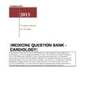 Medicine Question Bank - Cardiology
