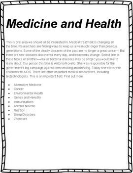Medicine and Health  Unit Study