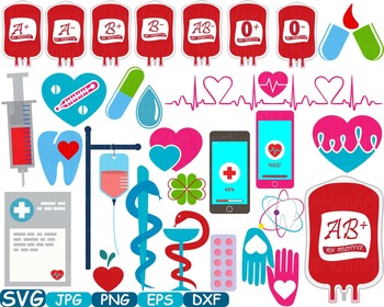 Medicine science Doctor Medic clip art svg med school graduate health SIGN -205s