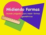 Medición en pulgadas de formas geométricas en español