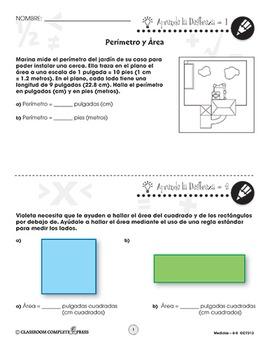 Medidas: Perímetro y Área Gr. 6-8