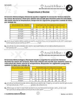 Medidas: Temperatura y Divisas Gr. 6-8