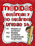 Medidas estándar y no estándar: Spanish Standard and Nonstandard Measurement