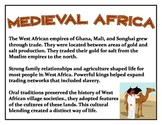 Medieval Africa - Bulletin Board Posters