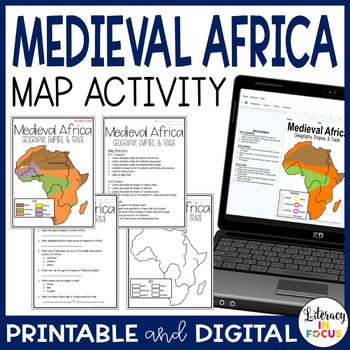 Medieval Africa Map Lesson & Assessment- Ghana, Mali, and Songhai Empires