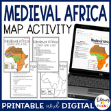 Medieval African Empires of Ghana, Mali, and Songhai Map Lesson & Assessment