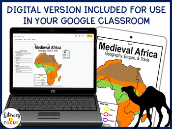 Medieval African Empires of Ghana, Mali, and Songhai Map Lesson