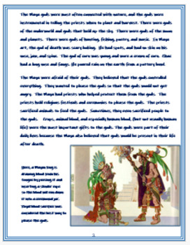 """Medieval America - """"Gods of the Maya"""" + Assessment"""