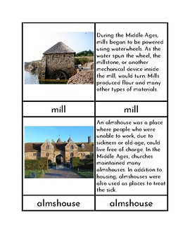 Medieval Architecture - Three/Four Part Cards