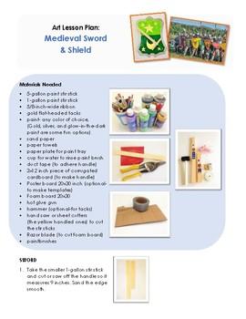 Art Lesson Plan: Medieval Sword & Shield
