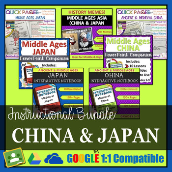Medieval Asia Interactive Notebook Instructional Bundle (China &