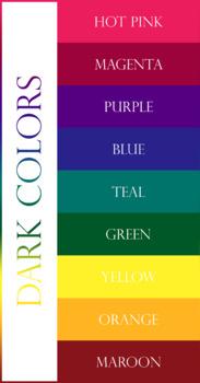 Medieval Banner Name Tags - Dark Colors