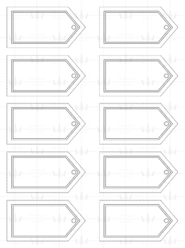 Medieval Banner Name Tags - Neutral Colors