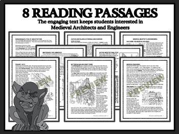 MEDIEVAL ARCHITECTS AND ENGINEERS -Reading Passages & Classroom Activities